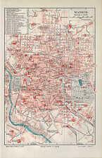 Landkarte city map 1906: Stadtplan: MADRID. Spanien Hippodrom Casa del Campo