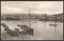Cornwall. St.Ives. St.Ives from Smeaton;'s Pier. Vintage Printed Postcard