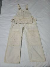 New listing Vintage 60's Lee White Double Knee Tool Pouch Painter Work Overalls Usa 36 X 26