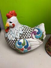 Jim Shore Outdoor Living rooster hen chicken 2012 Bathsheba 12x13 figurine