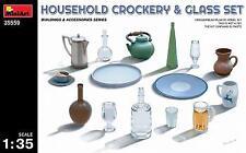 Miniart 1/35 Household Crockery & Glass Set # 35559