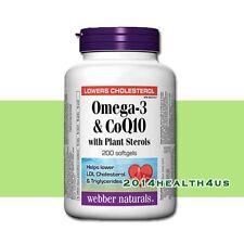 Webber Naturals Omega-3 & CoQ10 with Plant Sterols 417/50/370mg, 200 softgels