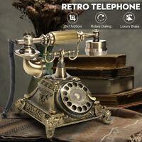 Retro Vintage Style Rotary Dial Push Button Ceramic Telephone Desk Phone Home OZ
