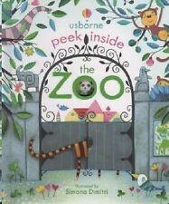 Usborne Peek Inside The Zoo, NEW