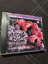Rodgers & Hart Verse And Chorus Barbara Cook Karoke pocket songs New Sealed CD
