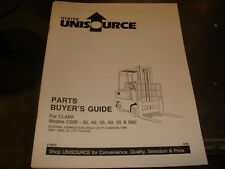 Hyster C500 35 45 50 55 S60 Forklift Parts Price Manual Book Catalog