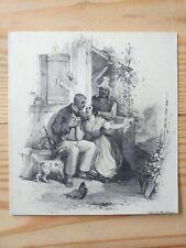 GRAVURE ANCIENNE JULES DAVID LITHOGRAPHIE DE MAGNIER romance amour homme femme