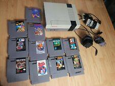 Original Nintendo NES Console & 11 Game Lot! MARIO TETRIS future fight duck of