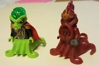 Lego RARE Alien Conquest COMMANDER w/Red Cape , Atlantis Octopus Minifigures