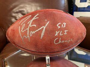 Peyton Manning Autographed SB XLI Football with Inscription