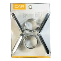 """Cap Weight Training 2"""" Olympic Size Spring Collars 2 Piece Set"""