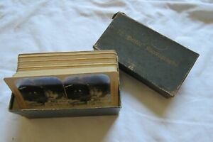 LOT 46 PHILIPPINES ANTIQUE WHITE Co. PHOTO STEREOVIEW STEREOSCOPIC CARDS box