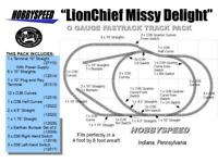 LIONEL FASTRACK LIONCHIEF MISSY DELIGHT TRACK LAYOUT 4X8 O GAUGE side bumper NEW
