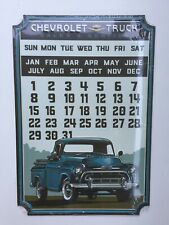 Chevrolet Truck Tin Metal Calendar Garage Sign Magnets 10.25 x 15 in Brand New