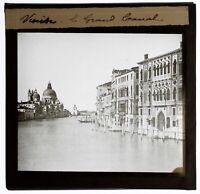 Italia Venezia Il Grand Canal c1900 Placca Da Proiezione Di Dopo Una Foto