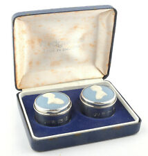 Wedgwood Jasperware Royal Wedding Collection 1981 Silver Miniature Boxes *BOXED*