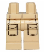 LEGO NEW TAN MINIFIGURE LEGS WITH POCKETS STAR WARS PANTS PIECES