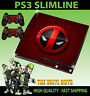 PLAYSTATION PS3 SLIM STICKER DEADPOOL LOGO 02 MERC WITH A MOUTH SKIN & PAD SKINS