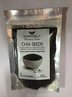 100% PURE PREMIUM CHIA SEEDS BLACK CHIA SEEDS (3.52 oz) VEGAN, GLUTEN FREE SHIP