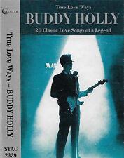BUDDY HOLLY TRUE LOVE WAYS  CASSETTE ALBUM ROCK POP Rock & Roll, Ballad 20 TRACK