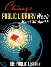 Pubblicità Chicago Public Library settimana NUOVO fine art print poster cc2754