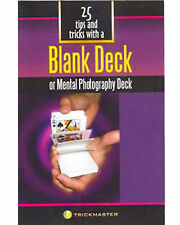 Brand New Book - 25 Tips and Tricks With A Blank Deck (Booklet)