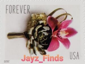 Forever Stamps Contemporary Boutonniere 2020 ~ Wedding, Invitations.. Pane of 20