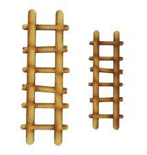 Fairy Door Accessories: 2 Wooden Fairy Door Ladders for Fairy Gardens, Skirtings