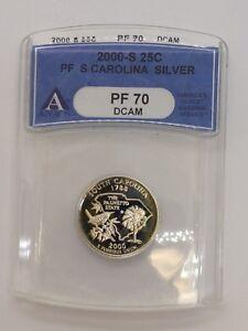 2000-S South Carolina Silver State Quarter 25C - ANACS PF 70 DCAM
