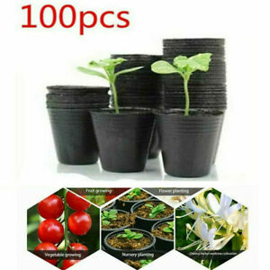 100Pcs Gardening Plant Nutrition Pot Flower Plant Outdoor Nursery Container