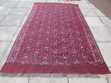 Fine Vintage Traditional Hand Made Afghan Oriental Red Wool SomaK Kilim 300x185