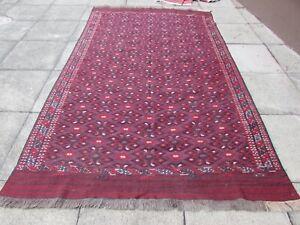 Fine Vintage Traditional Hand Made Afghan Oriental Red Wool SomaK Kilim 300x185