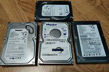 Lot of 3 old IDE Hard Drives ATA ATAPI 160GB 120GB Maxtor Seagate working tested