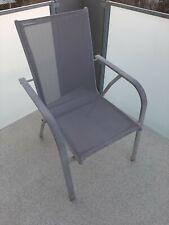 5 Gartenstühle grau aluminium gebraucht guter Zustand