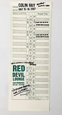 Original Colin Hay Band Poster, created for The Red Devil Lounge San Francisco