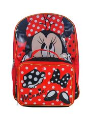 """NEW DISNEY MINNIE MOUSE """"IT'S ALL ABOUT THE BOW"""" BACKPACK LUNCH BAG SET"""