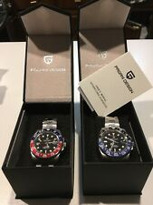 NEW PAGANI DESIGN 2020 40mm Auto GMT Watch Pepsi Batman USA Stock FAST SHIP