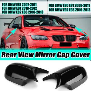 Pair M3 Style Side Mirror Cap Covers For BMW E81 E82 E87 E90 E91 E92 E93 07-2013