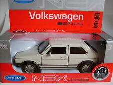 VW Golf 1 GTI creme weiß, Welly Auto Modell 1:36