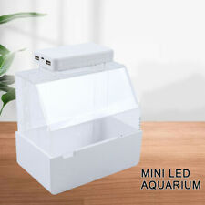 Mini Creative Desktop Aquarium Fish Tank With Water Filtration Micro Tank White
