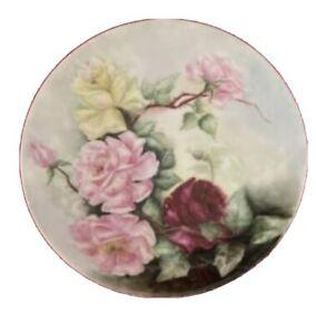 "Vintage Thomas ""Sevres"" Bavaria Hand Painted Floral  Plate"