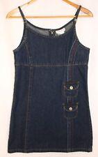 American Girl Girl's Cotton Denim Jeans Sleeveless Mini Dress - Sz 14 Sundress