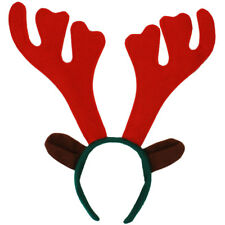 REINDEER ANTLERS WITH EARS ON HEADBAND CHRISTMAS STAG FANCY DRESS XMAS RUDOLPH