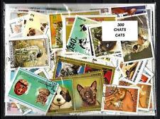 Chats - Cats 300 timbres différents oblitérés