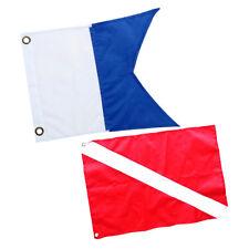 2Pcs Nylon Diver-Down Boat Flags Scuba Dive Snorkeling Flags Marker Blue,Red