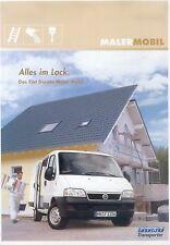Fiat Ducato Malermobil Prospekt 2003 brochure Nutzfahrzeug LKW Italien Broschüre