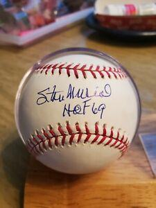 Stan Musial Single Signed HOF inscribed Baseball STEINER Hologram Cardinals auto
