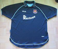 West Ham United MARTELLI THIRD SHIRT JERSEY FILA 1999/2001 Dr Martens WHU Uomo XXL