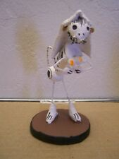 Day of the Dead Skeleton Clay Cat Bride with Bouquet - Mexico