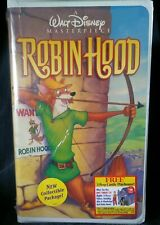 NEW! SEALED! ROBIN HOOD Walt Disney Masterpiece Collection VHS Tape